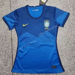 2021-2022 Brazil Away Blue  Female Thailand Soccer Jersey