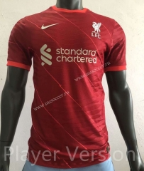 Player version 2021-2022 Liverpool Home Red Thailand Soccer Jersey AAA