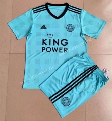 2021-2022 Gaming Edition  Leicester City  Blue Youth/Kids Soccer Uniform-AY