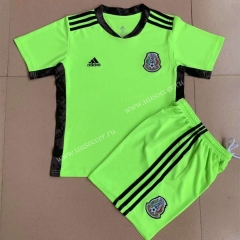 2021-22 Mexico Goalkeeper Green Training Youth/Kids  Soccer Uniform-AY