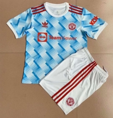 2021-2022 Gaming Edition  Manchester United Light Blue Soccer Uniform-AY