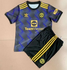 2021-2022 Gaming Edition Manchester United Blue&Black  Soccer Uniform-AY