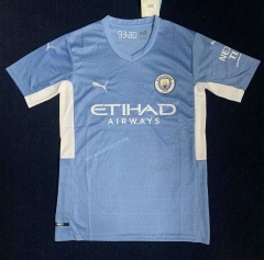 2021-2022  Manchester City Home Blue Thailand Soccer Jersey AAA