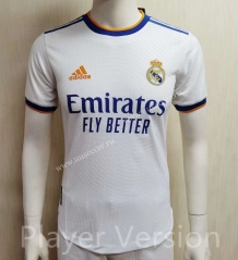 Player version 2021-22 Real Madrid Home White Thailand Soccer Jersey AAA