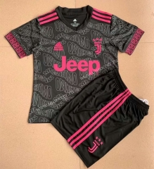Signed jointly 2021-22 Juventus Black Soccer Uniform-AY
