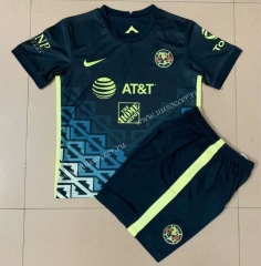 2021-22 Club America  Away Royal Blue Soccer Uniform-AY