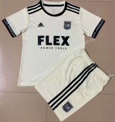 2021-2022 Los Angeles FC Away White Youth/Kids Soccer Uniform-AY