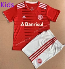 2021-2022 Brazil International Home Red Youth/Kids   Soccer Uniform-AY