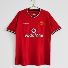 Retro Version 00-02 Manchester United Home Red Thailand Soccer Jersey AAA-c1046