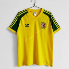1982 Wales Away Yellow Thailand Soccer Jersey AAA-c1046