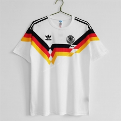 1990 Retro Version Germany Home White Thailand Soccer Jersey-c1046