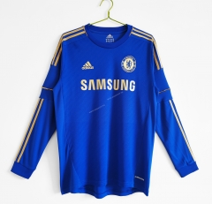 Retro Version 2012-2013 Chelsea Home Blue Thailand LS Soccer Jersey AAA-c1046