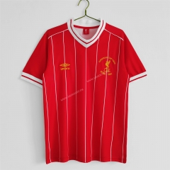 UEFA Champions League 81-84 Retro Version Liverpool Home Red Thailand Soccer Jersey AAA-c1046