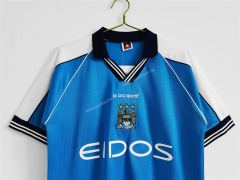 99-01 Retro version Manchester City  Home Blue Thailand Soccer Jersey AAA-c1046