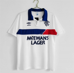 1994 Retro Version Rangers Away White Thailand Soccer Jersey AAA-C1046