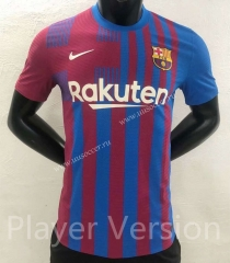 Player version 2021-2022 Barcelona Home Blue & Red Thailand Soccer Jersey AAA-YD