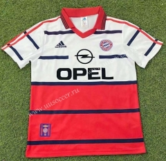 1998-2000 Bayern München Away Red&White Thailand Soccer Jersey AAA-503