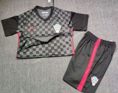 2021-2022 Croatia Away Dark Gray  Soccer Uniform