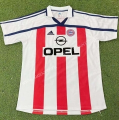 2000-01 Bayern München Away Red&White Stripe Thailand Soccer Jersey AAA-503