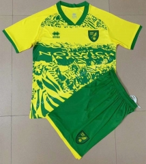 Special edition 2021-2022 Norwich City Home Yellow&Green Youth/Kids Soccer Uniform-AY