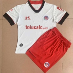 2021-2022 Deportivo Toluca FC  Away White Youth/Kids Soccer Uniform-AY