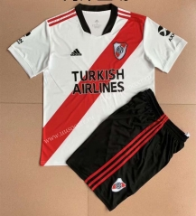 2021-2022River Plate Home White Soccer Uniform-AY