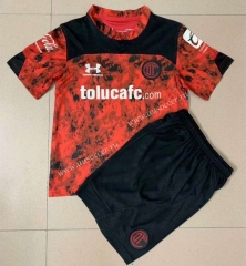 2021-2022 Deportivo Toluca FC Home Red Youth/ Kids Soccer Uniform-AY