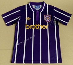 1993 Retro version Manchester City  Away Purple Thailand Soccer Jersey AAA-AY