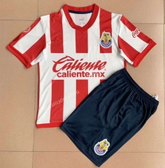 115th Anniversary Edition  Deportivo Guadalajara Red & White  Youth/ Kids Soccer Uniform-AY