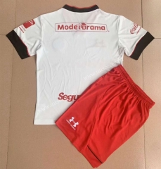 2021-2022 Deportivo Toluca FC  Away White Red Soccer Uniform-AY