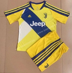 2021-2022 Juventus Yellow Youth/ Kids Soccer Uniform-AY