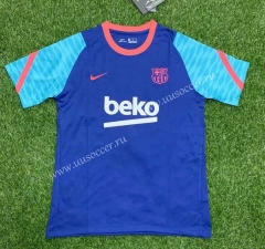 2021-2022 Barcelona Blue Thailand Soccer Training Jersey-407