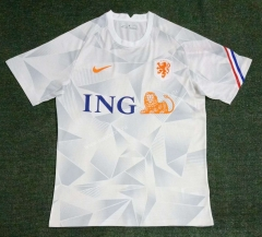 21-22 Netherlands White Thailand Soccer Training Jersey-416