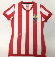 115th Anniversary Commemorative Edition Deportivo Guadalajara Home Red & White Thailand Women Soccer Jersey AAA-912