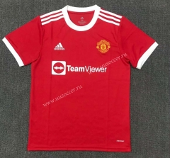 2021-2022 Manchester United Home Red Thailand Soccer Jersey AAA-803