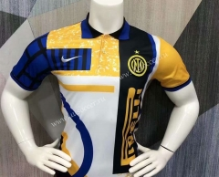 2021-2022 Inter Milan Yellow&White Thailand Polo-403