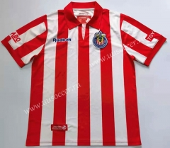 2008 Retro Version Deportivo Guadalajara Home Red & White Thailand Soccer Jersey AAA-912