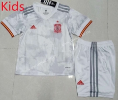2021-2022 Spain Away White Kids/Youth Soccer Uniform