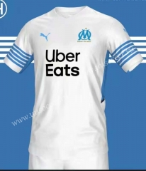 2021-2022 Olympique de Marseille Home White Thailand Soccer Jersey AAA-403