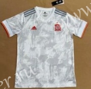 (S-4XL)2021-2022 Spain Away White Thailand Soccer Jersey AAA