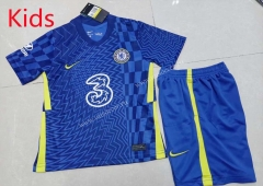 2021-2022 Chelsea Home Blue Kid/Youth Soccer Uniform