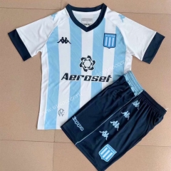 2021-2022 Racing Club de Avellaneda Home  Blue&White  Youth/Kids Soccer Uniform-AY