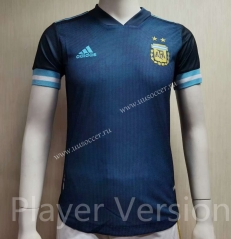 Player Version 2021-2022 Argentina Away Royal Blue Thailand Soccer Jersey AAA-807