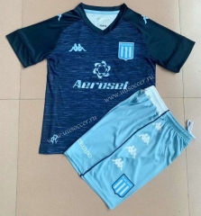2021-2022 Racing Club de Avellaneda Away Royal Blue  Youth/Kids Soccer Uniform-AY