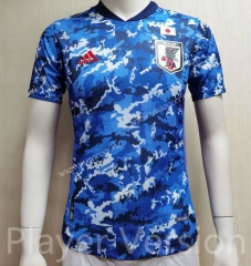 Player version Japan Home Blue Thailand Soccer jersey AAA-807