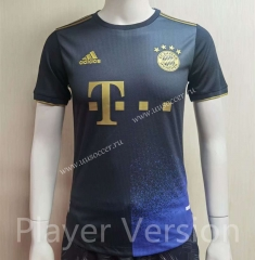 Player  Version 2021-2022 Bayern München Away Black Thailand Soccer Jersey AAA-807
