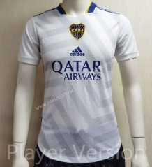Player version 2021-2022 Boca Juniors Away White Thailand Soccer Jersey-807