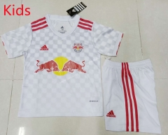 2021-2022 New York Red Bulls Home White Kids/Youth Soccer Uniform-AY