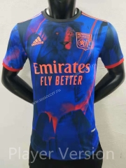 Player version special edition 2021-2022 Olympique Lyonnais Blue Thailand Soccer Jersey AAA