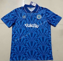91-93 Retro Version Napoli Home Blue Thailand Soccer Jersey AAA-422